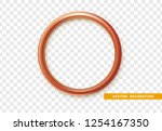 red round frame isolated on... | Shutterstock .eps vector #1254167350
