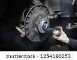 professional mechanic repairing ...   Shutterstock . vector #1254180253