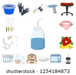 tattoo  drawing on the body... | Shutterstock .eps vector #1254184873