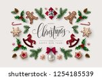 decorative frame made of... | Shutterstock .eps vector #1254185539
