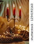 christmas and new year's winter ... | Shutterstock . vector #1254192163