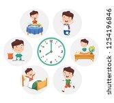 vector illustration of kid... | Shutterstock .eps vector #1254196846