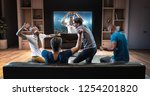 group of students are watching... | Shutterstock . vector #1254201820