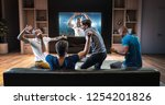 group of students are watching... | Shutterstock . vector #1254201826