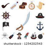 pirate  sea robber cartoon... | Shutterstock .eps vector #1254202543