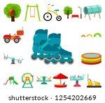 playground  entertainment... | Shutterstock .eps vector #1254202669