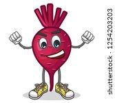 stock vector of cute red beet...   Shutterstock .eps vector #1254203203