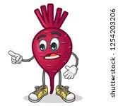 stock vector of cute red beet...   Shutterstock .eps vector #1254203206