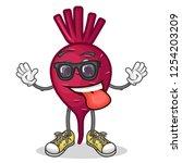stock vector of cute red beet...   Shutterstock .eps vector #1254203209