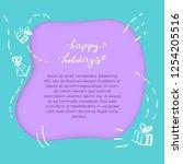happy holidays decorative... | Shutterstock .eps vector #1254205516