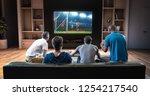 group of students are watching... | Shutterstock . vector #1254217540