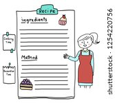 Recipe Sheet With Stripe Lined...