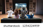 group of students are watching... | Shutterstock . vector #1254224959