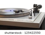turntable with vinyl lp... | Shutterstock . vector #125422550