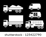 truck icons | Shutterstock .eps vector #125422790