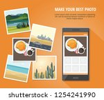 photo of hamburger and cup of... | Shutterstock .eps vector #1254241990