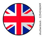 flag great britain   flat style ... | Shutterstock .eps vector #1254246049