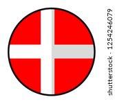 flag denmark   flat style... | Shutterstock .eps vector #1254246079