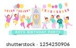 vector illustration of boys... | Shutterstock .eps vector #1254250906