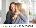 beautiful family of mother and... | Shutterstock . vector #1254258589