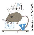 abc vole | Shutterstock .eps vector #125426480