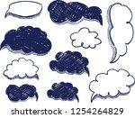 vector speech bubbles...   Shutterstock .eps vector #1254264829