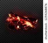 design of realistic glowing... | Shutterstock .eps vector #1254268876