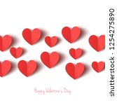floating hearts for valentine's ... | Shutterstock .eps vector #1254275890