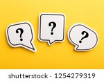 question mark speech bubble... | Shutterstock . vector #1254279319
