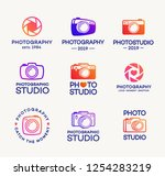 set of photography and photo... | Shutterstock .eps vector #1254283219