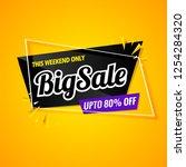 big sale  banner template black ... | Shutterstock .eps vector #1254284320