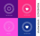 vector line logos and icons....   Shutterstock .eps vector #1254284506