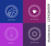 vector line logos and icons....   Shutterstock .eps vector #1254284509