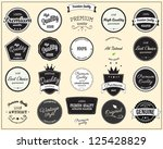 labels collection | Shutterstock .eps vector #125428829