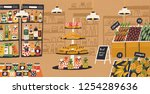interior of modern grocery... | Shutterstock .eps vector #1254289636