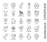 25 business concept mix line... | Shutterstock .eps vector #1254291310