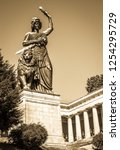 famous statue of bavaria at the ... | Shutterstock . vector #1254295729