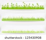 set of  backgrounds with vector ... | Shutterstock .eps vector #125430908