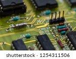 analog electronic circuit board ... | Shutterstock . vector #1254311506