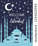 welcome to istanbul. travel to...   Shutterstock .eps vector #1254323593