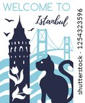 welcome to istanbul. travel to...   Shutterstock .eps vector #1254323596