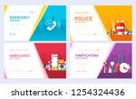 firefighter  rafting  police ... | Shutterstock .eps vector #1254324436