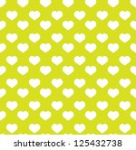 seamless green heart pattern  ... | Shutterstock .eps vector #125432738