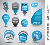 special offer and sale labels ... | Shutterstock .eps vector #125432744