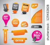 labels   special offer and sale ... | Shutterstock .eps vector #125432828