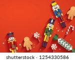 christmas elements template... | Shutterstock .eps vector #1254330586