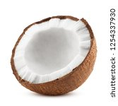 Coconut  Isolated On White...