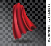 super cape with transparent... | Shutterstock .eps vector #1254338953