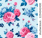 beautiful spring or summer... | Shutterstock .eps vector #1254342430