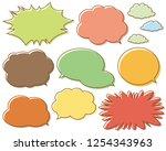 speech bubbles speech balloon   Shutterstock .eps vector #1254343963